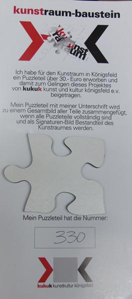 Ein Puzzle-Baustein