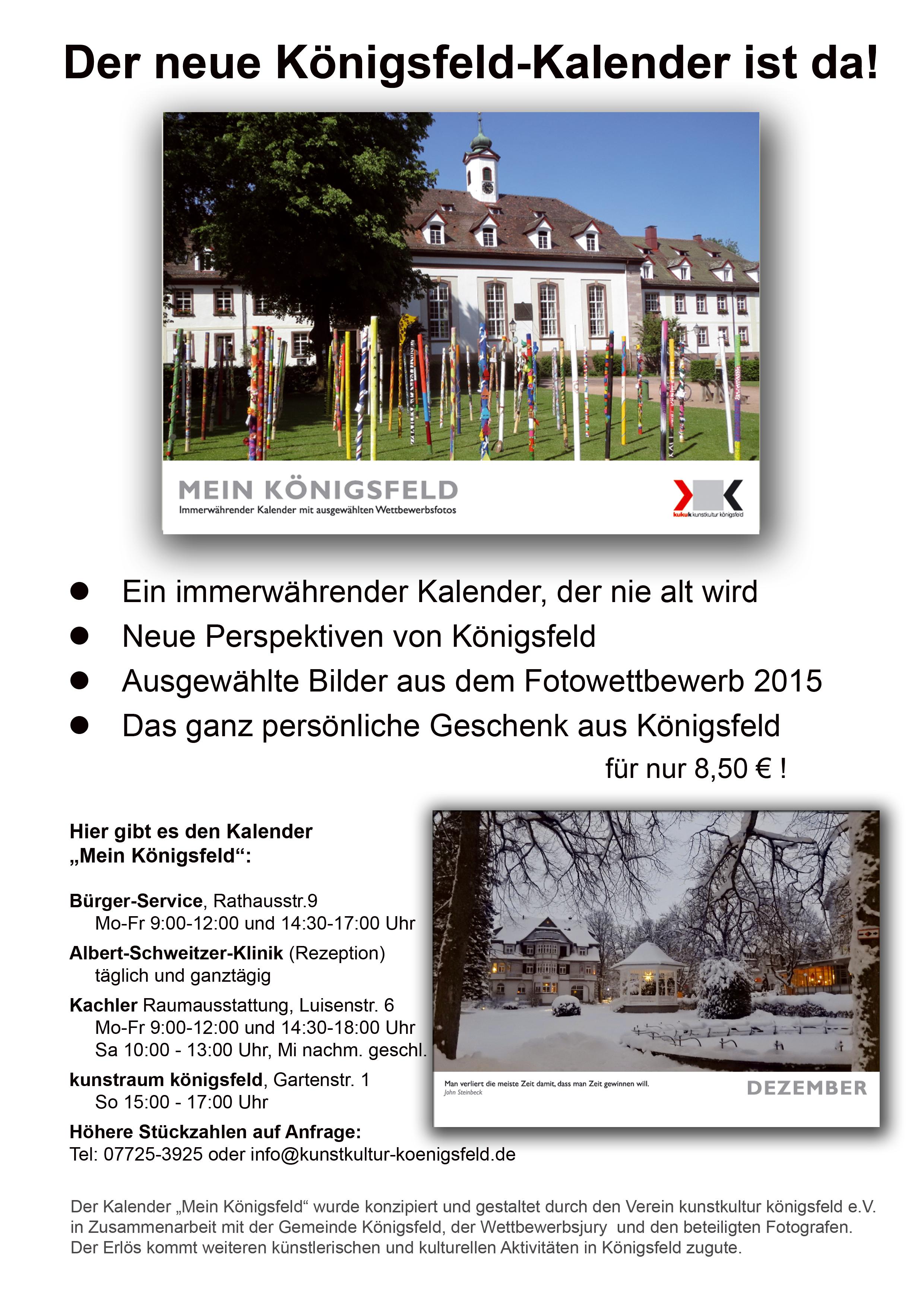kalender mein k nigsfeld kunstkultur k nigsfeld e v. Black Bedroom Furniture Sets. Home Design Ideas